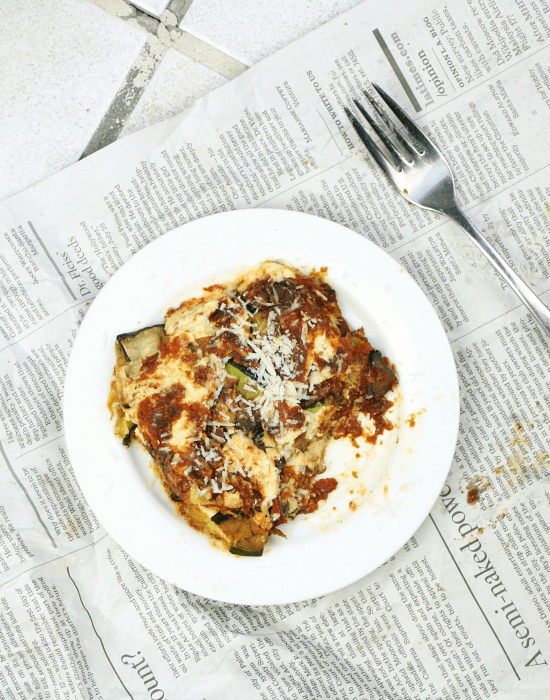 low carb lasagna + letting go