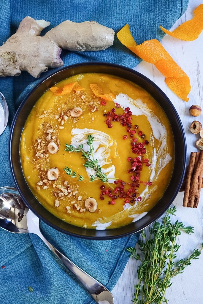 Butternut Squash Soup with Winter Spices