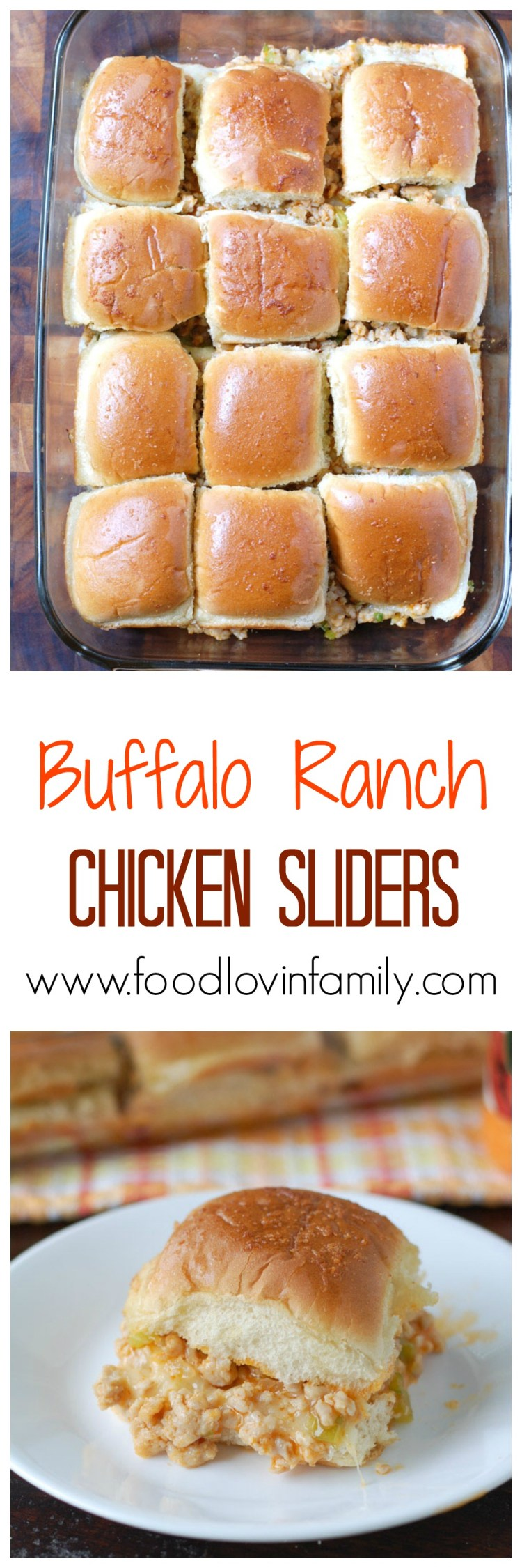Buffalo Ranch Chicken Sliders - Food Lovin Family