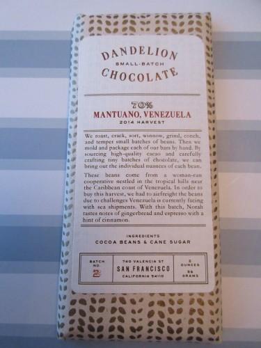 Dandelion Chocolate 70% Mantano, Venezuela