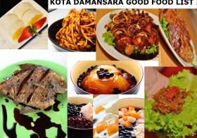 Kota Damansara Good Food List 2013