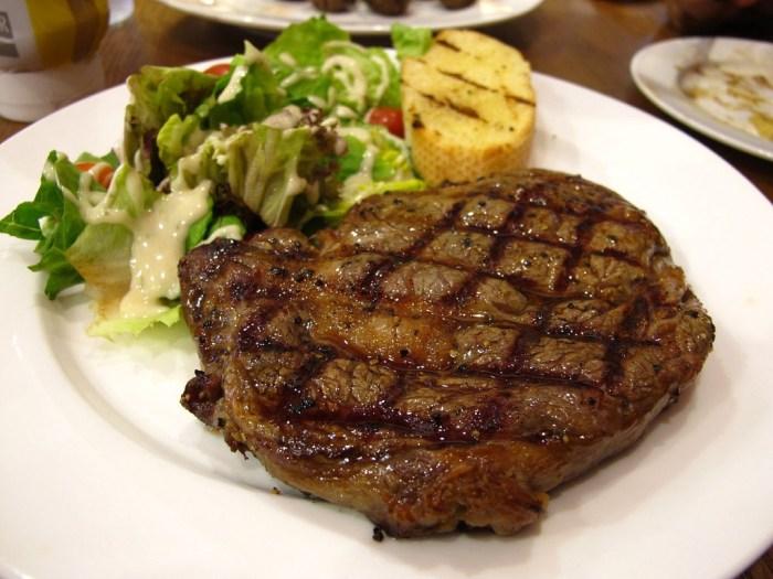 Rib Eye Steak Restaurant Menu
