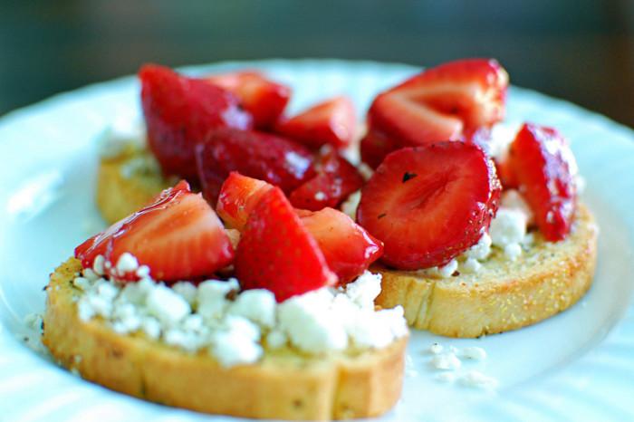 Swap tomatoes for strawberries on this bruschetta.
