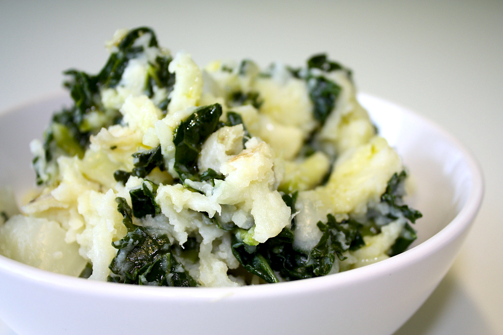 kale and goat cheese mashed potatoes recipe