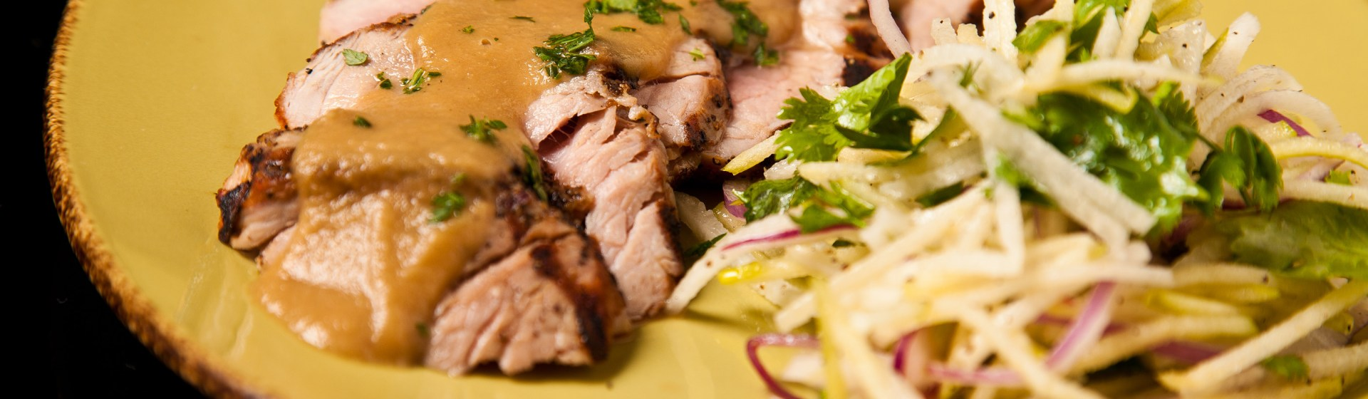 Pork Tenderloin with Apple Jicama Slaw - Food Republic