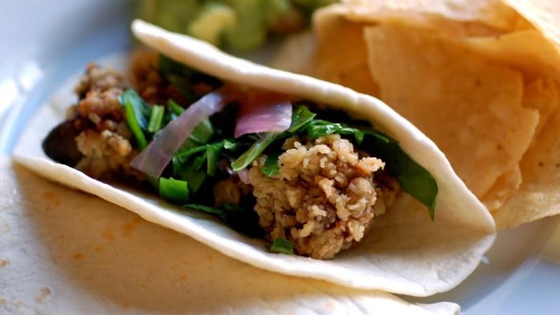 Chicken liver taco
