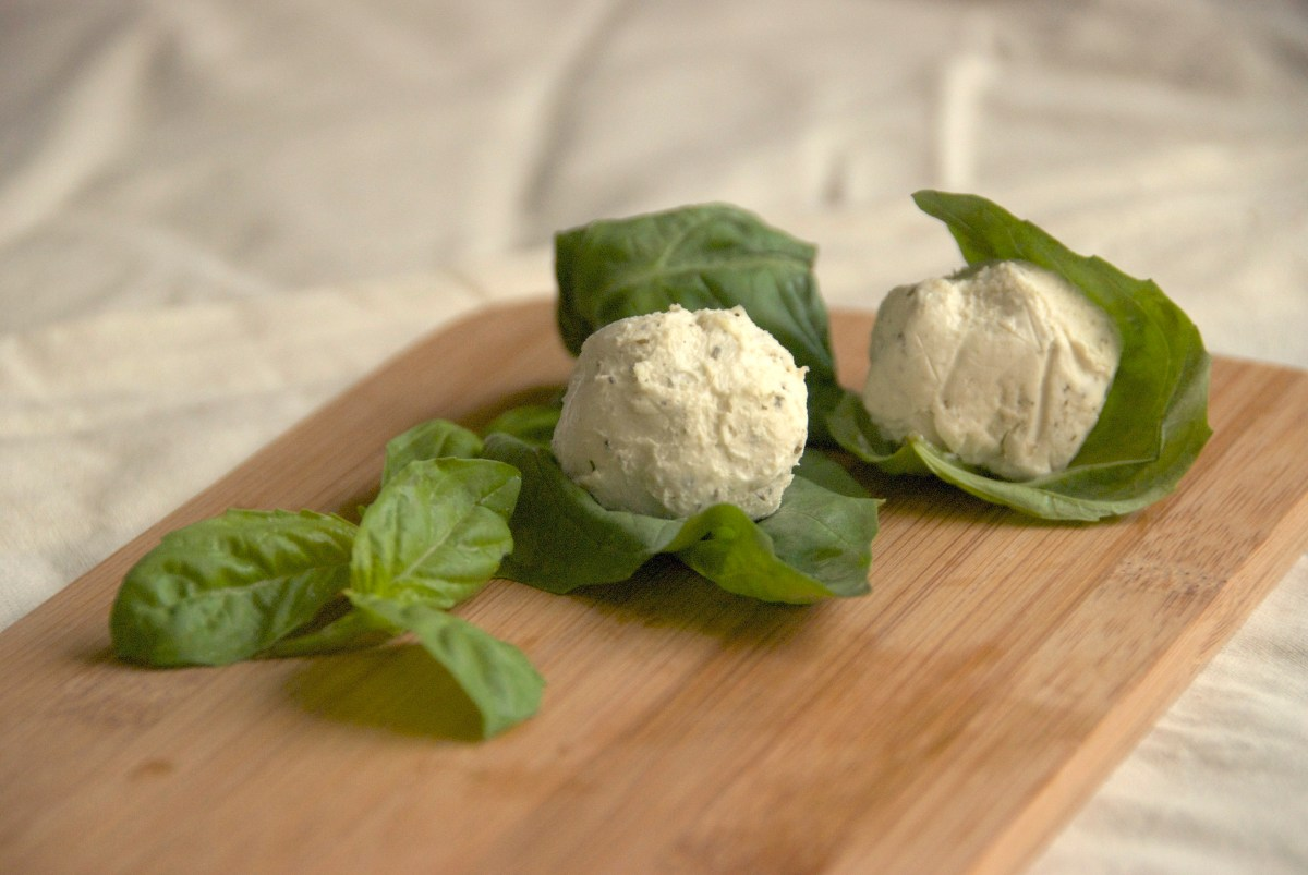 Basil-Wrapped Goat Cheese Recipe | Food Republic