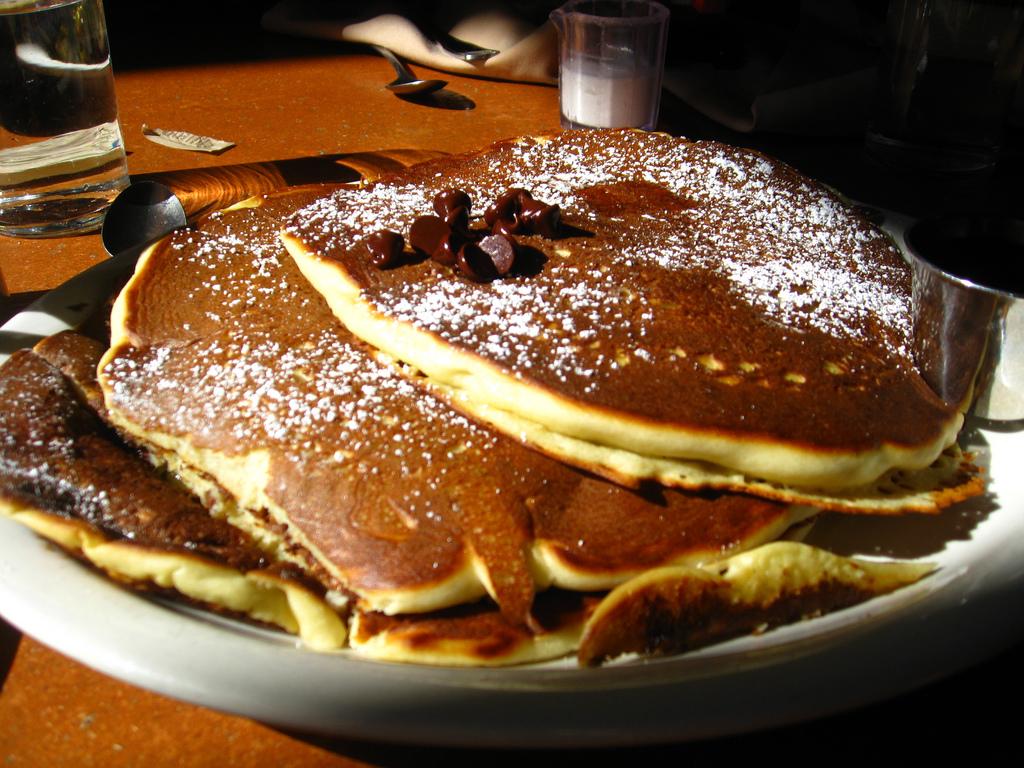Chocolate chip pancakes recipe food republic forumfinder Gallery