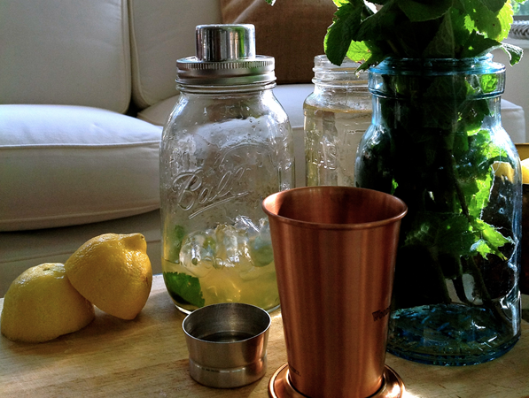 The mason jar cocktail shaker will be available in a four-piece set.