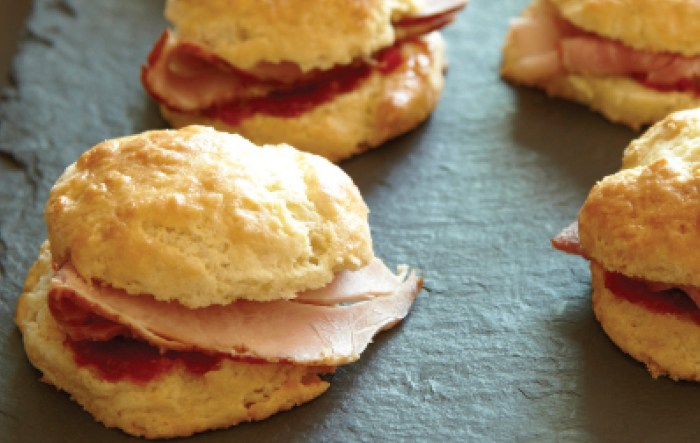 Ham Biscuit Sliders With Hot Pepper Jam | Food Republic