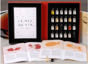This kit is designed to help people learn how to better recognize and express what they're tasting in a glass of wine.
