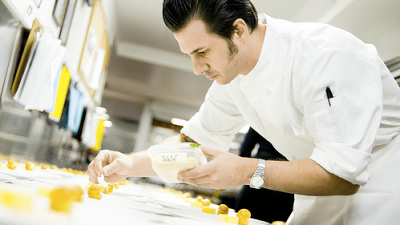 Johnny Iuzzini has worked as Executive Pastry Chef at both Daniel and Jean-Georges.