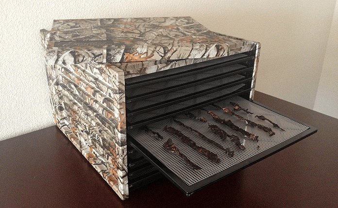 The Excalibur Camouflage Deluxe Dehydrator outperforms more affordable products.