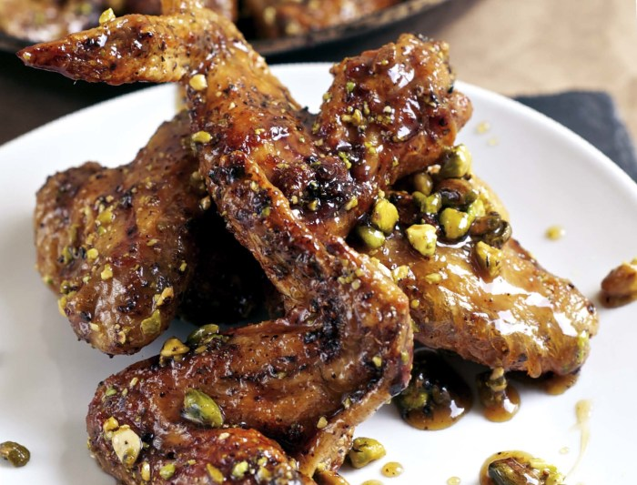 Honey Baked Pistachio Wings Recipe | Food Republic