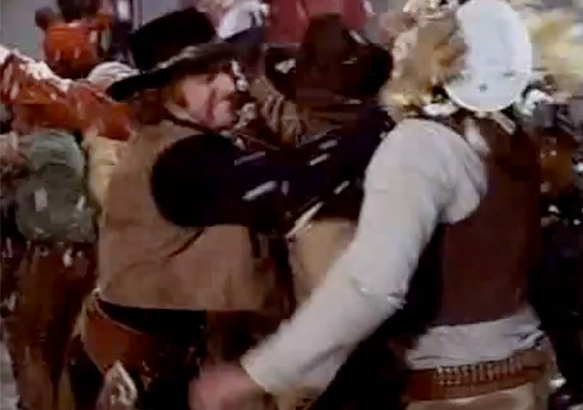 Food fight scene from Blazing Saddles