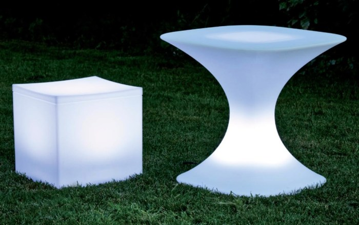 Glow Furniture outdoor eating solution: glow-in-the-dark furniture - food republic