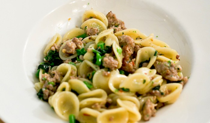 orecchiette with sausage recipe