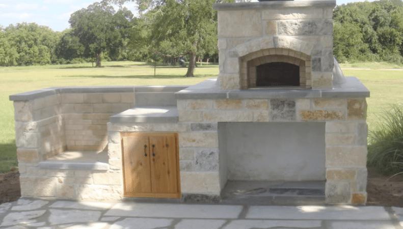 A pizza oven from Texas Oven Co. makes an impressive addition to any outdoor kitchen.