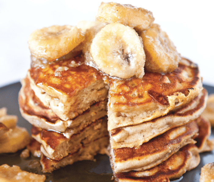 Peanut Butter And Banana Pancakes Recipe