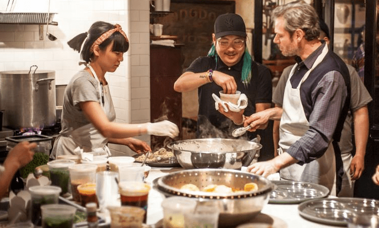 Mission Chinese Food's Danny Bowien was on hand at LuckyRice in New York in May.