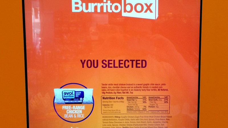 At Last, A Vending Machine That Makes You A Delicious Burrito (Every Time!)