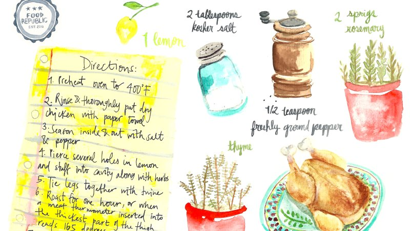 Illustrated Guide: How To Make A Traditional Roast Chicken