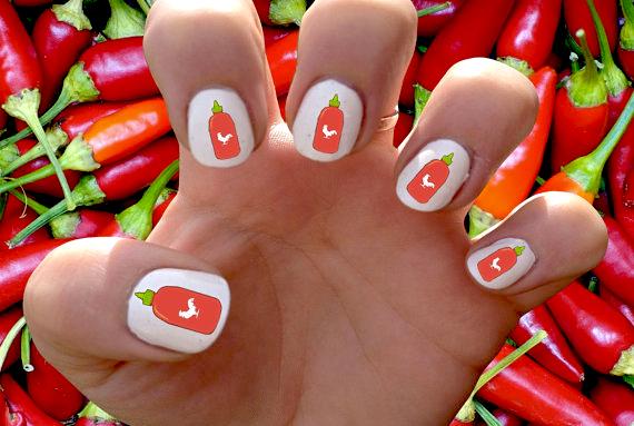 This Week In Food Nail Art: Sriracha Decals