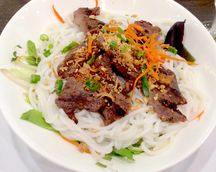 grilled pork rice noodle salad