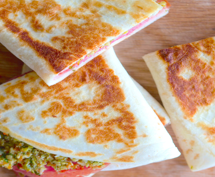 Behold! The Muffuletta In Quesadilla Form. (Photo: Guy Ambrosino.)