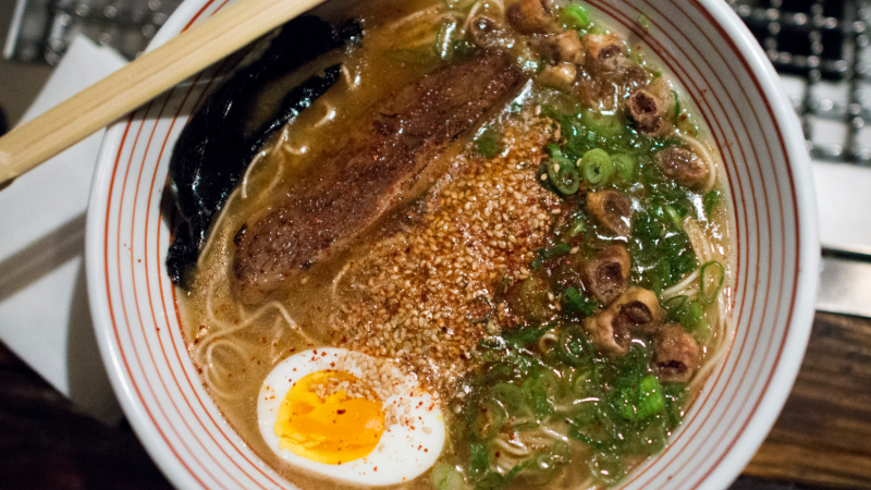 The broth of tonkotsu ramen is heavy and fatty. So, what beer to pair with it?