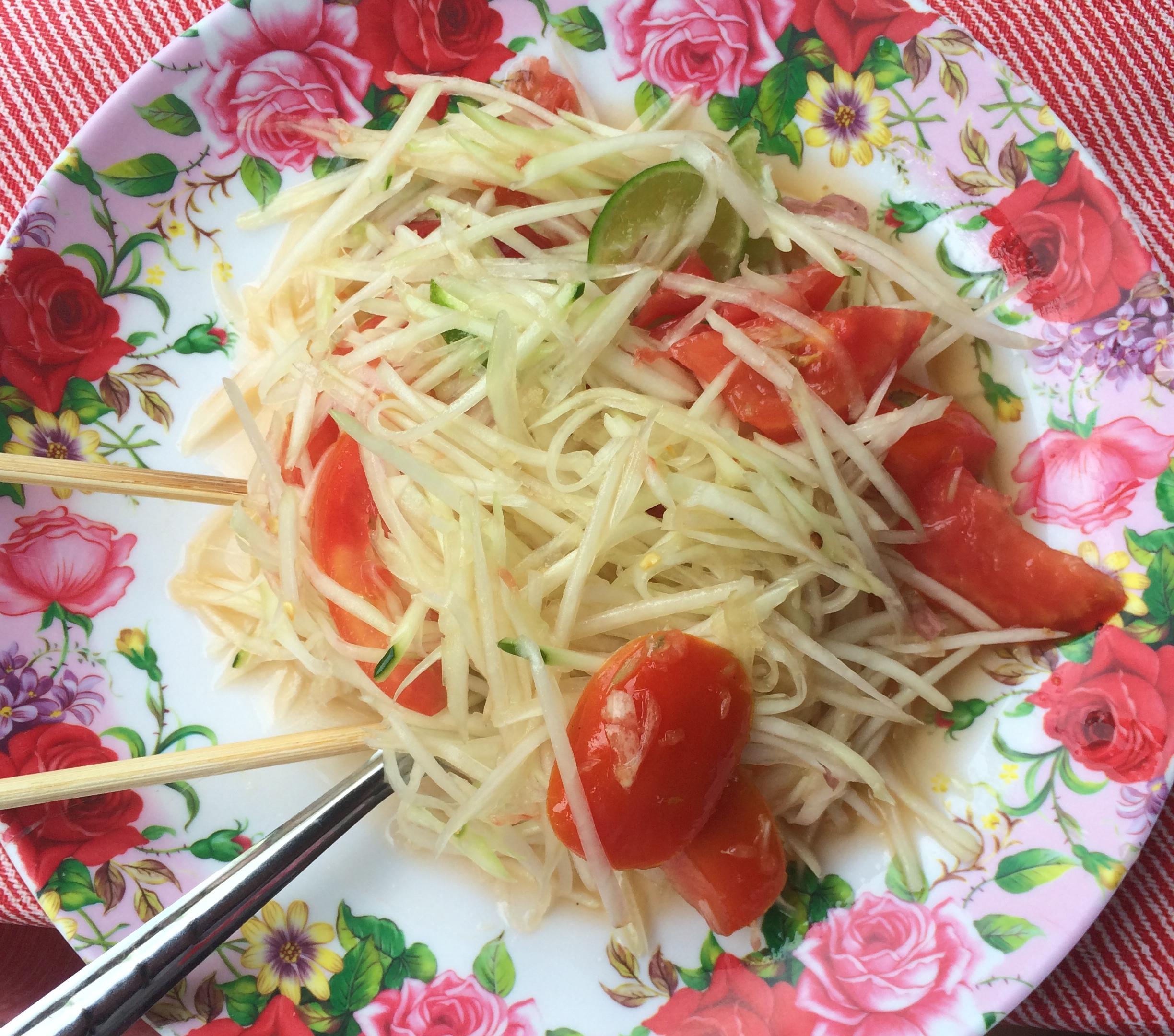 photo essay tv host eden grinshpan took your dream trip to eden grinshpan had learned how to make papaya salad on a previous trip to thailand