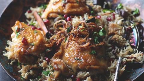 Honeyed Chicken And Eggplant Biryani Recipe