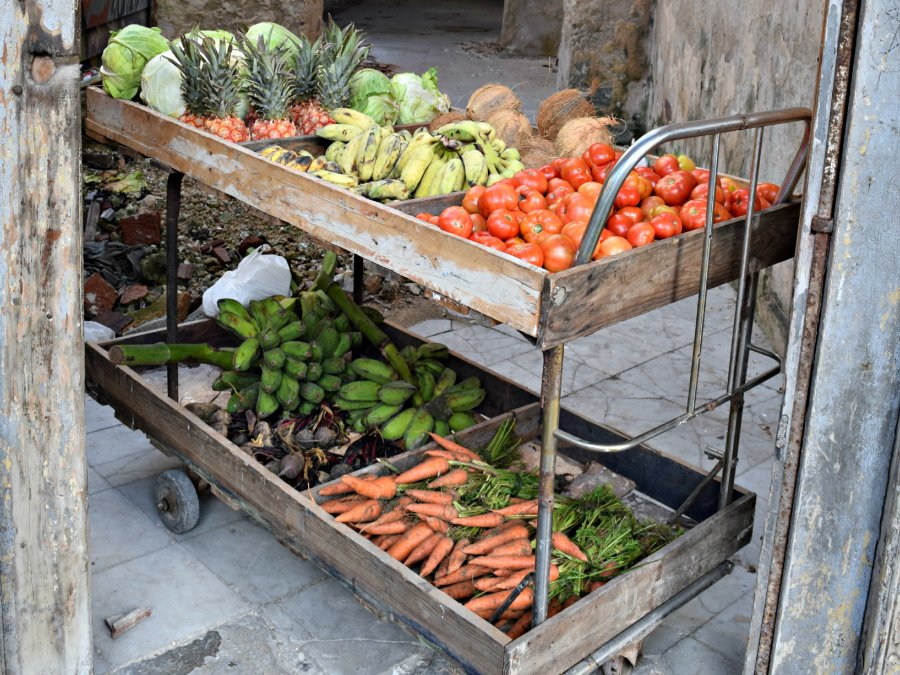A street vendor in Havana offers something you don't find too often on the  Communist-led Caribbean island: fresh produce.