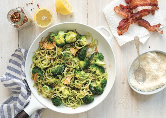 spiral broccoli with lemon recipe