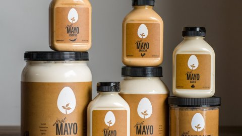Just Mayo comes in four eggless flavors including chipotle, sriracha, garlic and original.