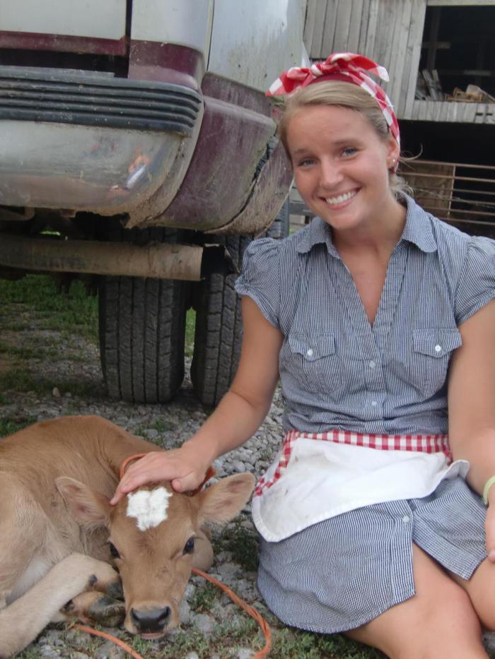 Cruze Farm Girl and Cow