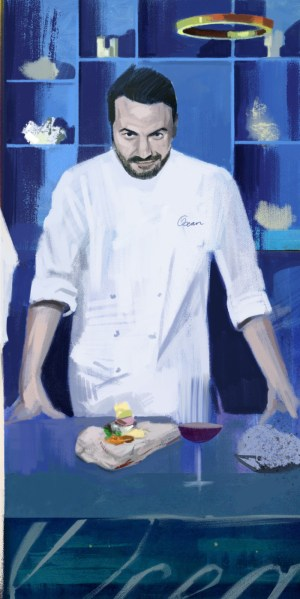 illustration of Ocean chef Hans Neuer