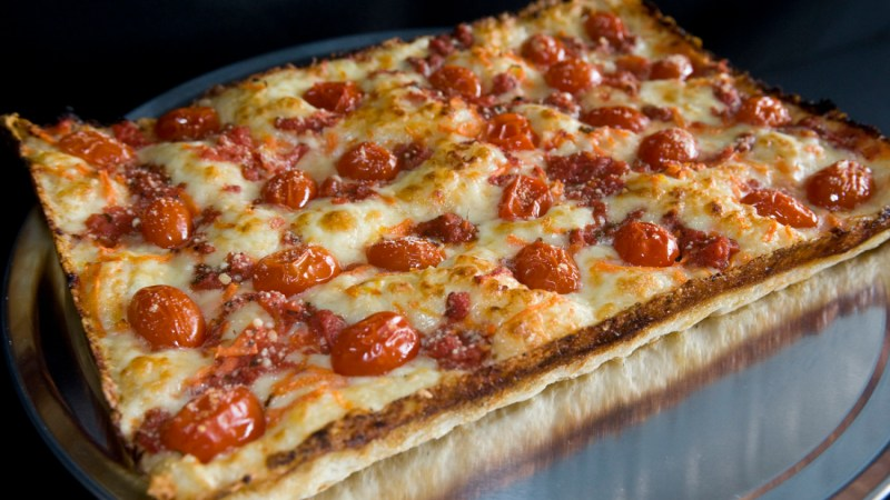 Detroit-style pizza goes all the way back to the 1930s and started at Buddy's in Motor City. (Photo courtesy of Buddy's.)