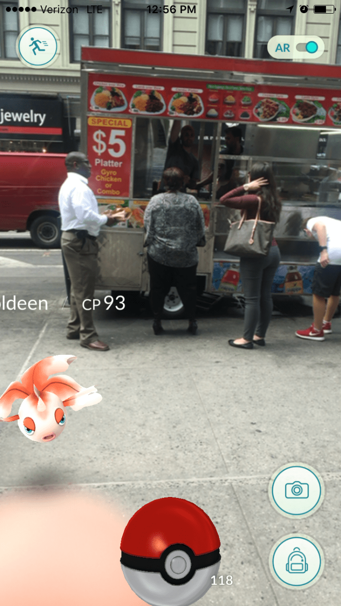 Goldeen spotted at Rafiqi's Halal cart