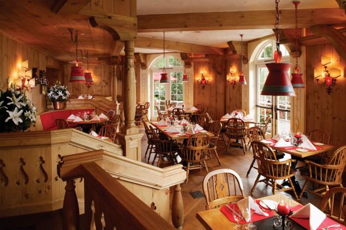 The Swiss Chalet restaurant at Sonnenalp.