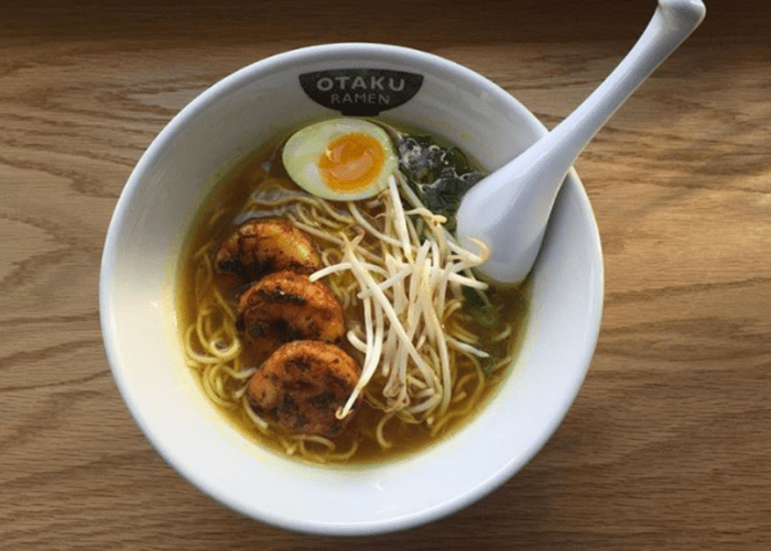 Otaku Curry shrimp ramen