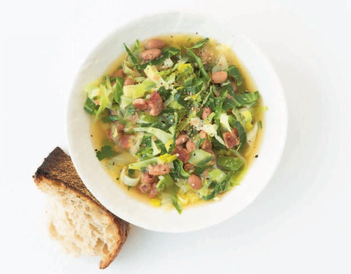 cabbage bacon and bean soup recipe