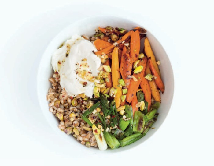 labneh and roasted carrots grain bowl recipe