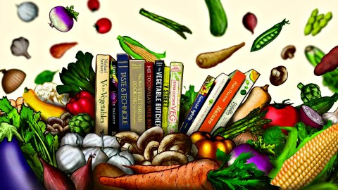 vegetable cookbooks illustration