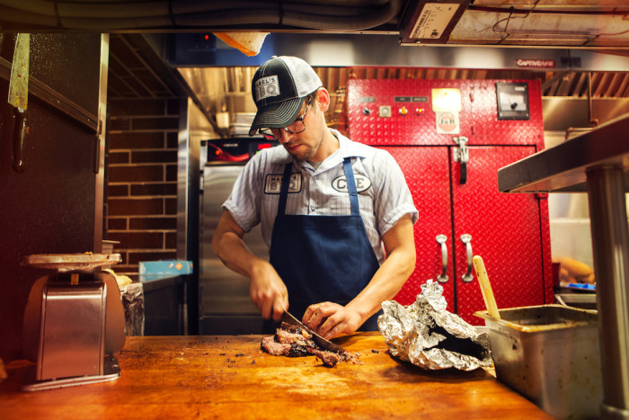 Cleveland-style barbecue is the specialty of Michael Symon's newest spot. (Photo credit: Mabel's BBQ)
