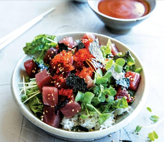 make a korean poke bowl