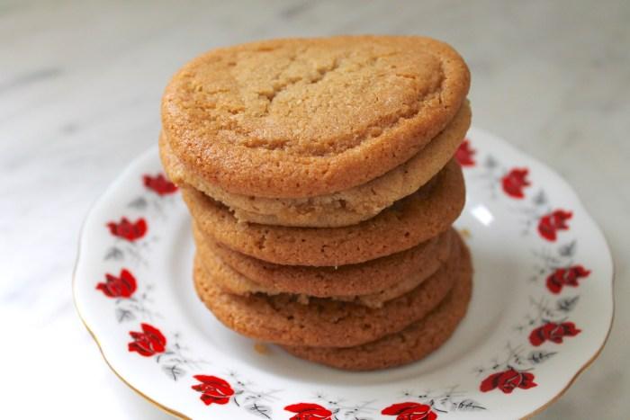 vegan brown butter cookies.
