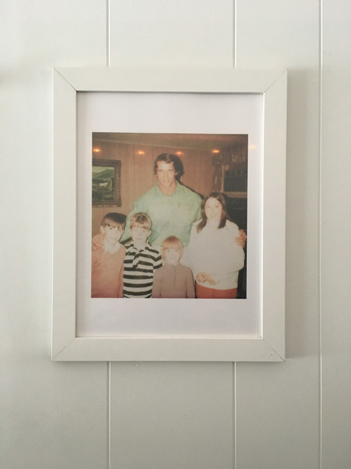 A picture of Arnold Schwarzenegger hangs proudly at the inn. (Photo: Tiffany Do.)