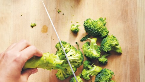 how to cut broccoli and cauliflower