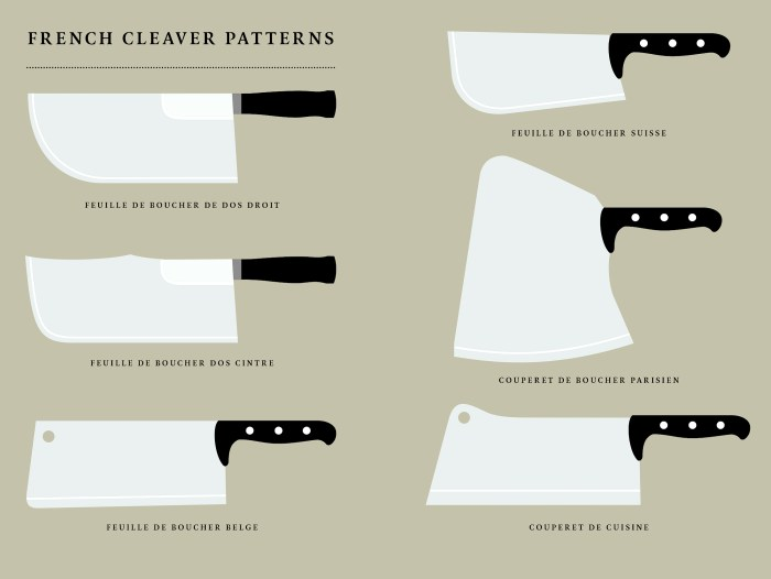 french butcher's cleavers